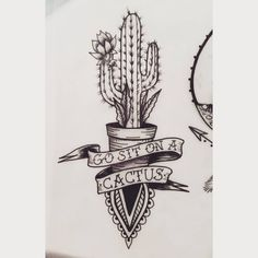 "44 Likes, 11 Comments - Sarah Spread (@sarah_spread) on Instagram: ""Up for grabs! #tattoo #ink #cactus #cactustattoo #blackwork"""