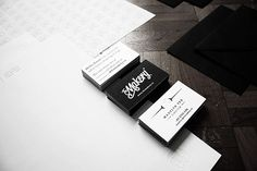 Letterpressed business cards for The Makery