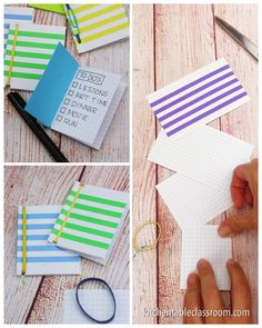 Books for Kids to Make Try three easy methods of book binding for kids. These handmade books start with just index cards and rubber bands!Try three easy methods of book binding for kids. These handmade books start with just index cards and rubber bands! Kids Crafts, Book Crafts, Creative Crafts, Craft Projects, Craft Books, Easy Crafts, Project Ideas, Easy Diy, Handmade Books
