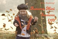 YEAY - it's beautiful autumn! Have you SEEN the gorgeous colours outside?? . So obviously we should take advantage of that and sort out some beautiful photos of you/your loved ones to go on your wall. . And I hear Granny is hassling you for some updated pictures of the kiddos? Well we can gift her a little something for the holiday season yes?  . Mini sessions available until 22nd Nov and include the session 5 gift prints of YOUR choice with digi files online proof and print gallery 15% off…