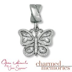 Cute! it even has the open hearts! Kay - Charmed Memories® Butterfly Charm Sterling Silver