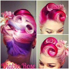 THE beautiful Diablo Rose and her gorgeous hair creations ♡