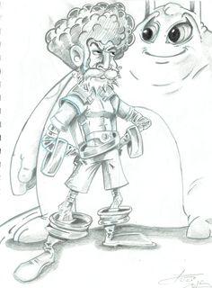 """Sketch da história o""""O velho e o monstro"""" - feito por: Darci Campioti - visite meu blog: http://institutodeartesdarcicampioti.blogspot.com.br/"""