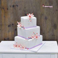 Square Wedding cake - Cake by Naike Lanza