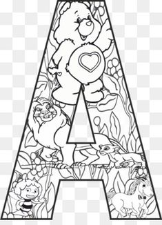 Coloring Letters, Free Adult Coloring, Pattern Coloring Pages, Alphabet Coloring Pages, Disney Coloring Pages, Coloring Book Pages, Printable Coloring Pages, Disney Alphabet, Alphabet Print