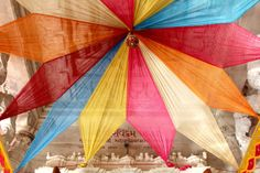 Colorful Canopy in a Mumbai Temple | WithTheGrains.com