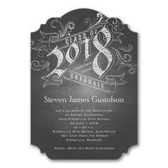 Chalkboard Announcement - Graduation Invitation