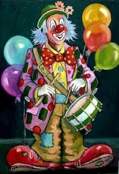 Image detail for -Il mondo di Carmen: Arte - il clown Circus Clown, Circus Theme, Circus Party, Clown Pics, Clown Paintings, Clown Party, Birthday Clown, Vintage Clown, Vintage Carnival