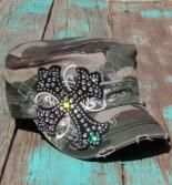 camouflage rhinestone cowgirl ball cap with western cross $21.99