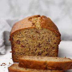 This is the best Banana Bread recipe you'll find! It's moist, easy to make, and you can whip it up in one bowl! Perfect with your morning cup of coffee or as a mid-day snack! Healthy Bread Recipes, Banana Bread Recipes, Healthy Baking, Banana Bread Recipe Video, Carrot Bread Recipe, Banana Carrot Bread, One Bowl Banana Bread, Cookie Recipes, Snack Recipes
