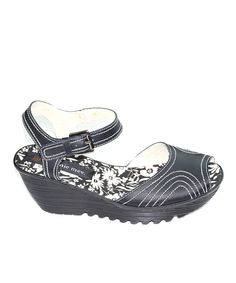 4556a27fd69 Bernie Mev Black Money Wedge Sandal - Women