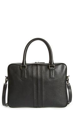 Tod's 'Double Stripe' Textured Leather Briefcase