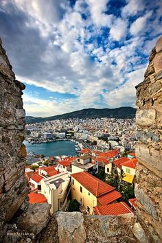 View of Kavala from its castle. Macedonia, Greece #kitsakis