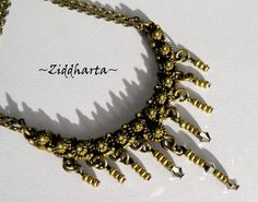 "Victorian SteamPunk Necklace ""Fringes"" - Handmade beaded Jewelry and Beading by Ziddharta by Ziddharta on Etsy"