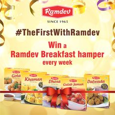 #TheFirstWithRamdev #Contest    Start any day of the week with the #Ramdev #BreakfastContender of the week, post pictures with a food review. Every week, the best food review will take home the big breakfast hamper.    The first #BreakfastContender is coming shortly.    #ContestAlert