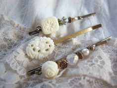 handmade   accessory   crafts   beads   vintage  hairpin  Bobby Pin