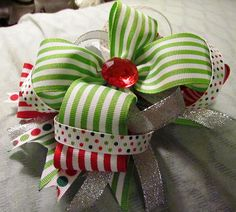 Stacked Christmas Bow
