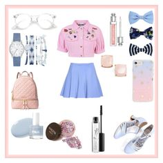 """""""Untitled #56"""" by ayumay ❤ liked on Polyvore featuring beauty, Moschino, Bettie Page, A.X.N.Y., Sonix, Christian Dior, Kate Spade, MICHAEL Michael Kors and MAC Cosmetics"""