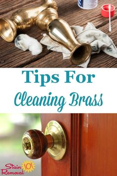 Here is a round up of tips for polishing and cleaning brass objects you find in and around your home, including homemade recipes and commercial cleaner reviews {on Stain Removal 101} #CleanBrass #CleaningBrass #PolishingBrass