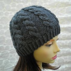 KNITTING PATTERN / INISHMOR/ Mans Hat Pattern / Cable Knit Fishermans Hat in Pure Wool /Knit Straight