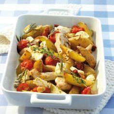 Griekse ovenschotel met kip en aardappelen Recept   Weight Watchers Nederland