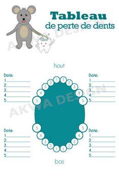 Tableau de perte de dents pour garçon Illustration par Akwadesign