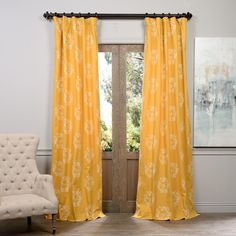 Found it at Wayfair - Isles Printed Cotton Rod Pocket Single Curtain Panel