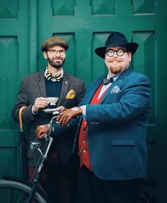 'The Fat and Dapper', promoting the Tweed Run Norway. I'll have tea with two sugars please Sirs.