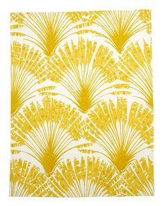 Brisa linen from Christopher Farr, via Elle Decor