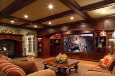 Always ceiling beams.  Wall color green- put on chairs (pick out from rug).  Salmon - use as accent and on carpeting.Warm burnt umber? on walls english tudor interiors | Breathtaking english tudor manor breathtaking english tudor manor