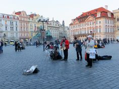 Musicians at the Old Town Square, Prague, Czech Republic