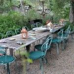 outdoor dining area classic farm house design with 18th century style