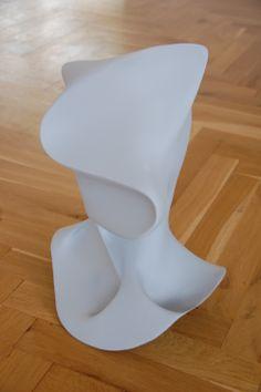 Eine mittels 3D-Design entworfene Büste gedruckt im Pulverdruckverfahren