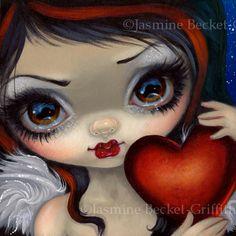 Faces of Faery 231 Jasmine Becket-Griffith art CANVAS PRINT Gothic Angel big eye