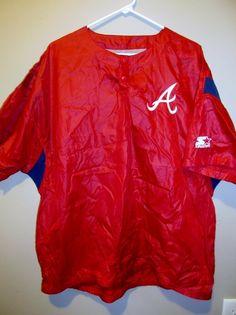 Vintage Starter NYLON Atlanta Braves jersey / jacket , X-large