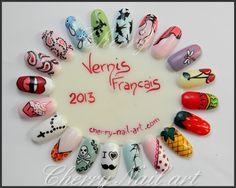 roue ongle nail art au vernis salon beauté selection paris 2013 cherry nail art