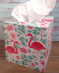 Flamingo tissue box cover cover #flamingo