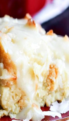 Coconut Bread Pudding with Coconut Cream Sauce