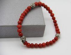 bracelet skulls en CORAIL CORSE certifié véritable : Bijoux pour hommes par made-with-love-in-aiacciu