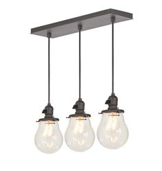 Baltimore 3-Light Multipendant 20in Rectangle - Straight Drop A0269
