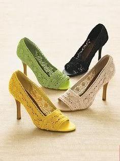 Pantofi si saboti crosetati - P - Articole crosetate pentru adulti