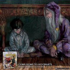 Dumbledore and Harry share a moment together in the new illustrated edition of Harry Potter and thre Sorcerer's Stone. #harrypotterillustrated