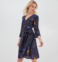 d88687fd40fbd Robe portefeuille Femme - Imprimé marine - Robes - Femme - Promod