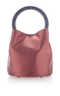 Small Top Handle Bag in Satin by MARNI for Preorder on Moda Operandi