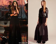 Selena Gomez continued her UK promotion stopping off at The Graham Norton Show to perform Come & Get It. She wore an Alice by Temperley Long Hana Skirt which is not yet on sale.   She also wore a Pas Pour Toi top and Nicholas Kirkwood sandals.  Watch her Graham Norton Show performance!