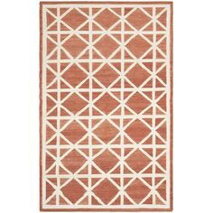 Safavieh Handwoven Moroccan Reversible Dhurrie Red/ Ivory Wool Area Rug (6' x 9') - Overstock™ Shopping - Great Deals on Safavieh 5x8 - 6x9 Rugs