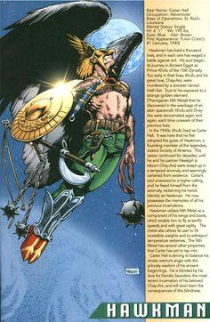 Hawkman Info Page - Rags Morales & John Kalisz