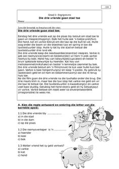 Begripstoets graad 6 by Ita Joubert Tens And Ones Worksheets, First Grade Math Worksheets, School Worksheets, Presentation Rubric, Afrikaans Language, Israel History, Reading Comprehension Worksheets, 4th Grade Reading, Reading Stories