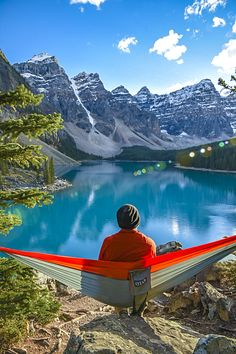 The ENO DoubleNest Hammock is your all-access pass to relaxation! Perfect for travel or home. Closer To Nature, Getting Out, Hammock, Relax, Wanderlust, Camping, Sky, Adventure, Mountains