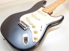 Vintage Black Hondo Strat Electric Guitar